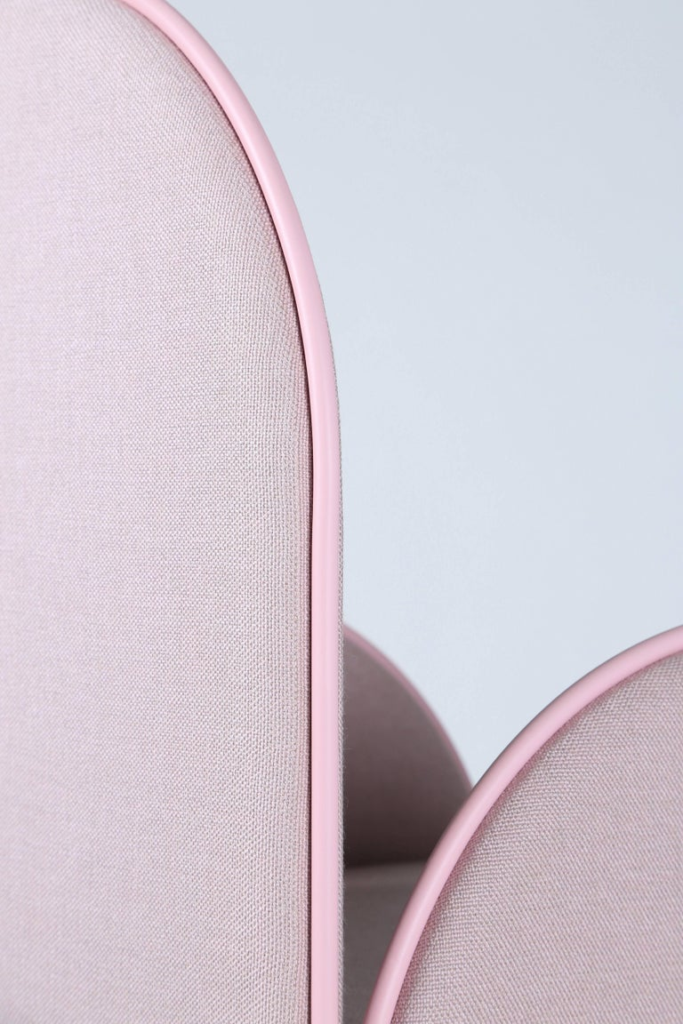 Contemporary Hawa Beirut Fully Upholstered Pink Chair by Richard Yasmine For Sale