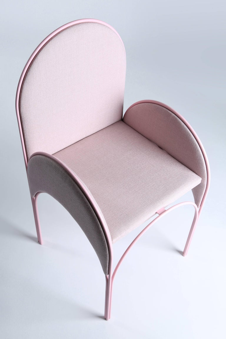 Upholstery Hawa Beirut Fully Upholstered Pink Chair by Richard Yasmine For Sale