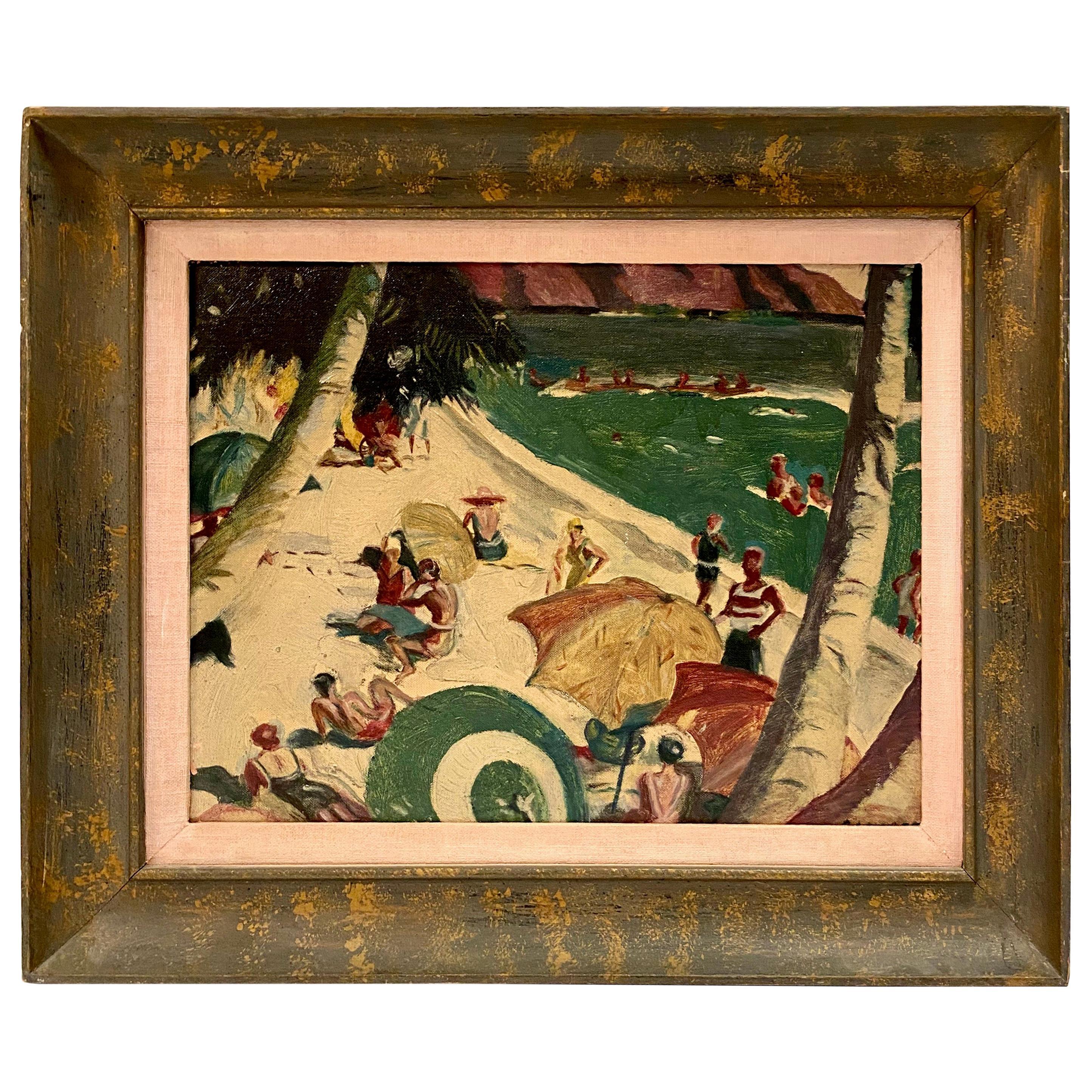Hawaiian Beach Scene Painting