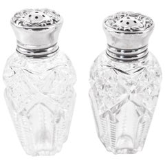Hawkes Crystal and Sterling Shakers