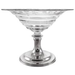 Hawkes Crystal or Sterling Compote
