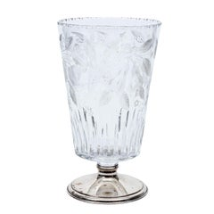 Hawkes Crystal Vase with Sterling Silver Base