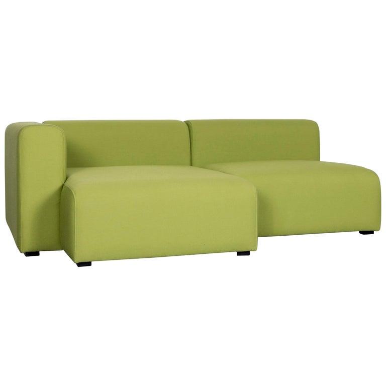 Hay Mags Designer Fabric Sofa Green Corner Couch