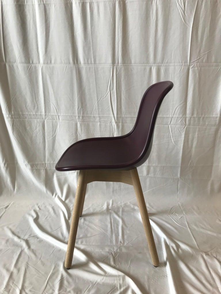Modern HAY Neu 13 Chair Matte Lacquer Bordeaux shell For Sale