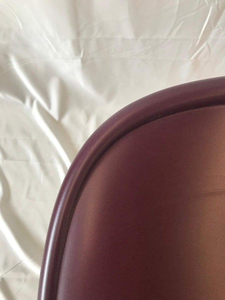 Danish HAY Neu 13 Chair Matte Lacquer Bordeaux shell For Sale