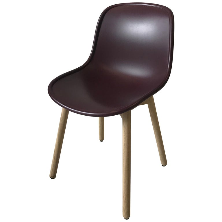 HAY Neu 13 Chair Matte Lacquer Bordeaux shell For Sale