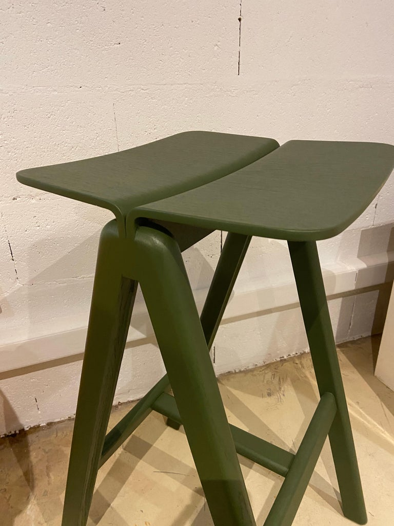 HAY, Set of 3 Stools in Oak, 2015 In Excellent Condition For Sale In Saint ouen, FR