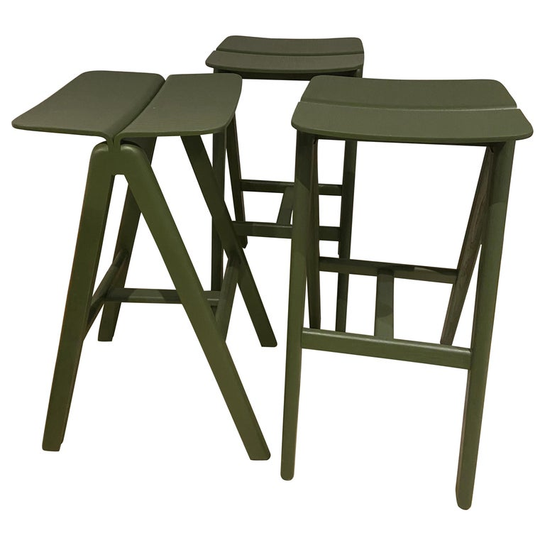 HAY, Set of 3 Stools in Oak, 2015 For Sale