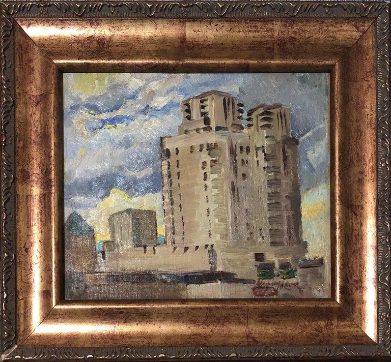 Electric Building in Mount Vernon, Westchester, New York, Impressionist WPA Era 2