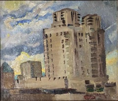 Electric Building in Mount Vernon, Westchester, New York, Impressionist WPA Era