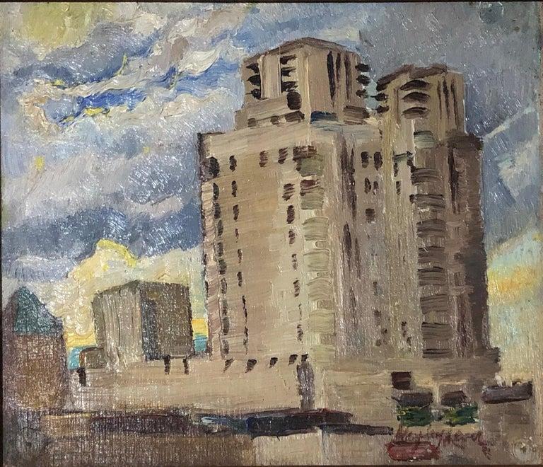 Electric Building in Mount Vernon, Westchester, New York, Impressionist WPA Era 1