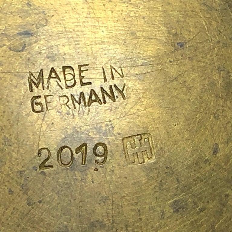 20th Century Hayno Focken Footed Bowl Hammered Brass Bauhaus For Sale