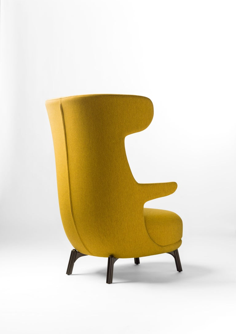 Hayon Edition Dino Armchair in Fabric and Leather Upholstery by BD Barcelona For Sale 4