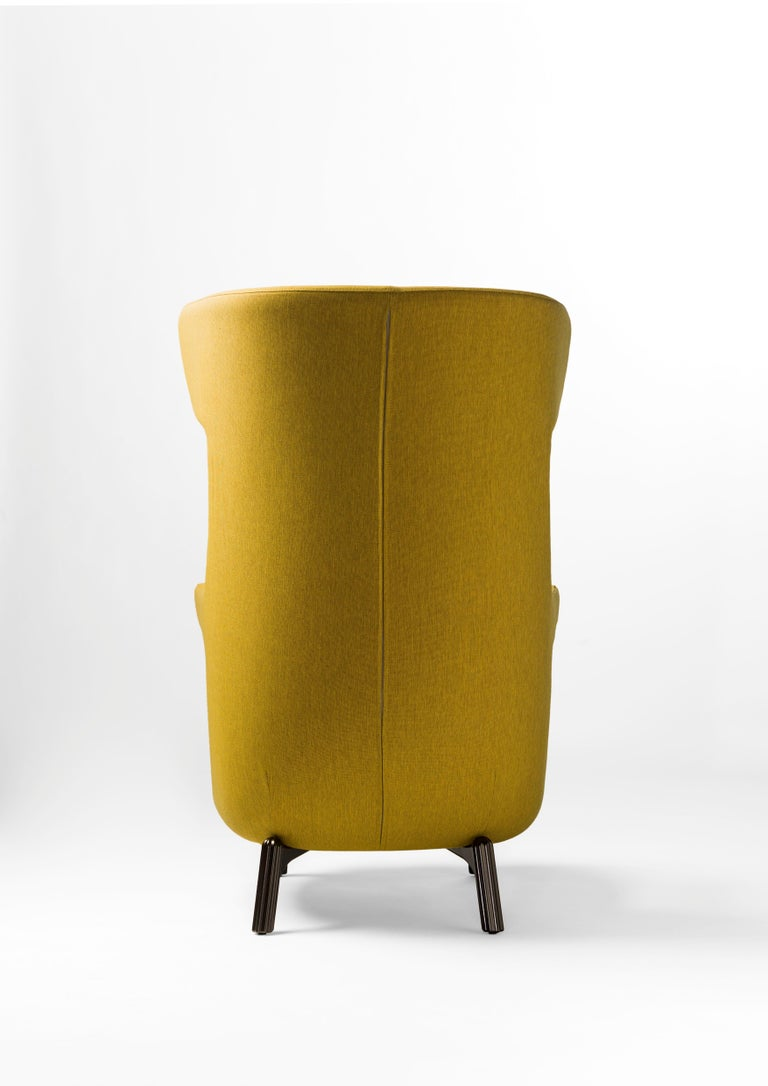 Hayon Edition Dino Armchair in Fabric and Leather Upholstery by BD Barcelona For Sale 5