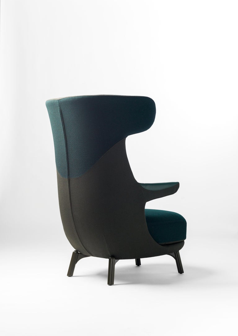 Hayon Edition Dino Armchair in Fabric and Leather Upholstery by BD Barcelona For Sale 6