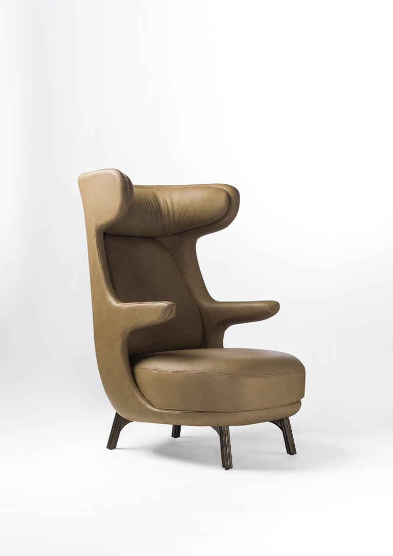 Hayon Edition Dino Armchair in Fabric and Leather Upholstery by BD Barcelona For Sale 7