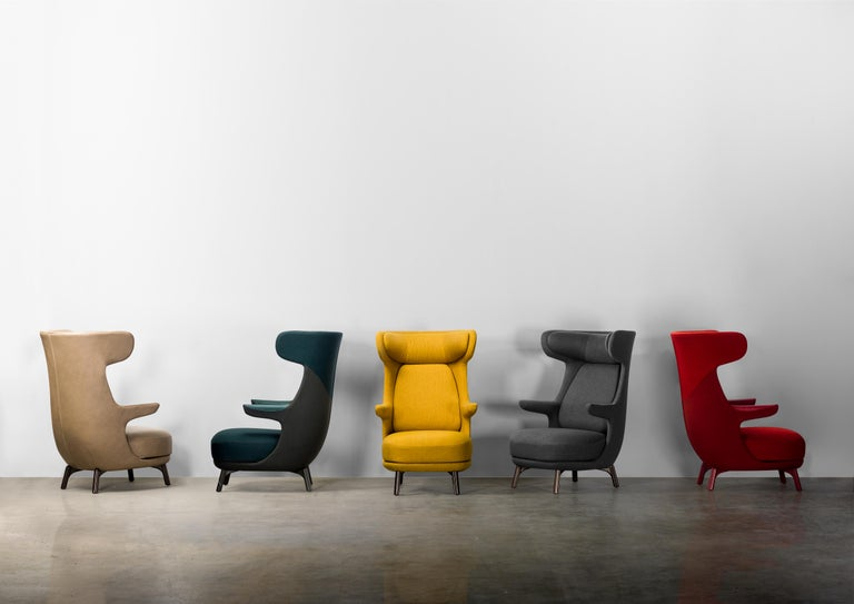 Modern Hayon Edition Dino Armchair in Fabric and Leather Upholstery by BD Barcelona For Sale