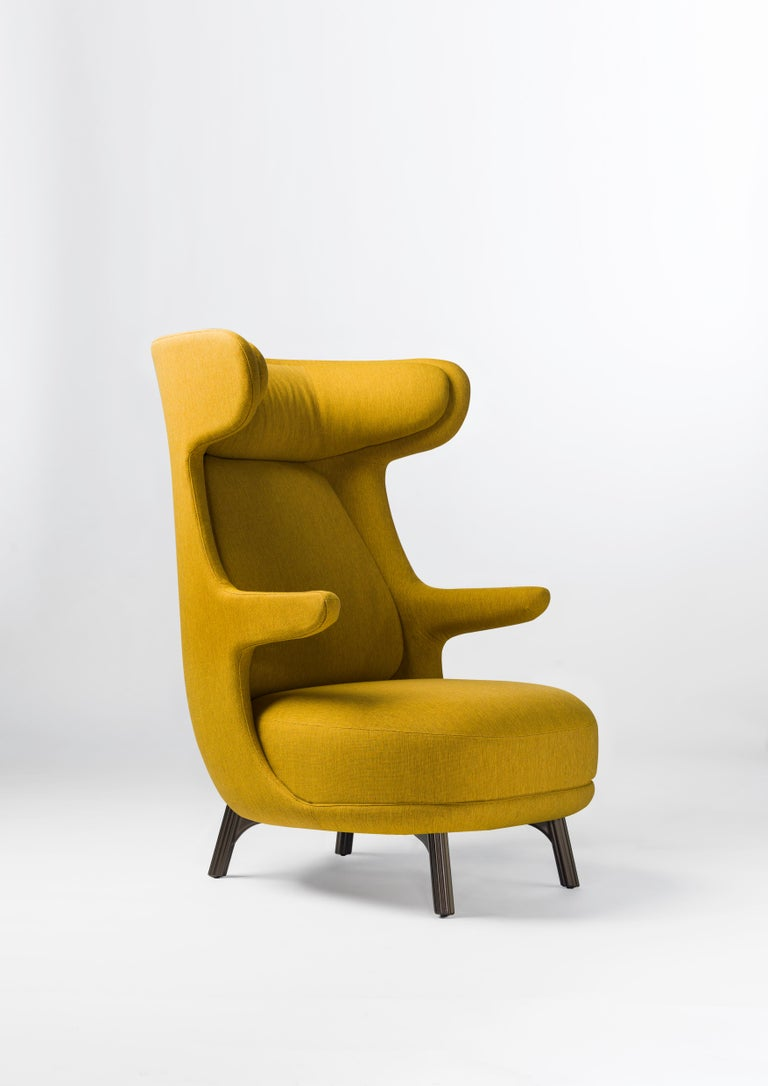 Spanish Hayon Edition Dino Armchair in Fabric and Leather Upholstery by BD Barcelona For Sale