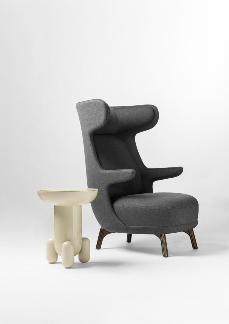 Hayon Edition Dino Armchair in Fabric and Leather Upholstery by BD Barcelona In New Condition For Sale In Rhinebeck, NY