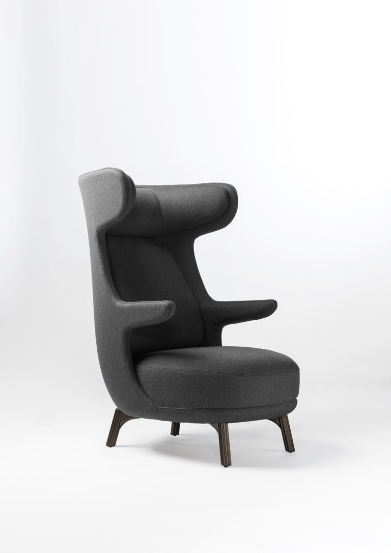 Hayon Edition Dino Armchair in Fabric and Leather Upholstery by BD Barcelona For Sale 1