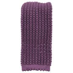 HAYWARD LONDON Muted Purple Silk Textured Knit Tie