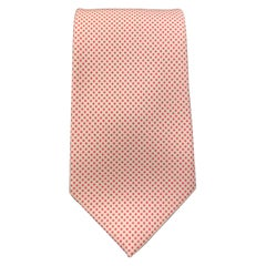 HAYWARD LONDON Pink & Cream Dotted Silk Tie