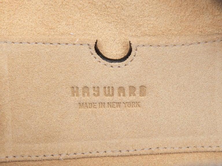 Hayward Navy Embossed Leather Oval Handbag For Sale 1