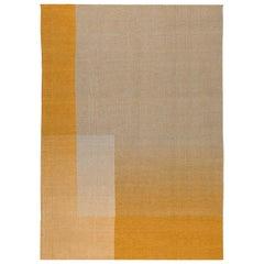 Haze Contemporary Kilim Wool Rug Handwoven Tuscan Sun Yellow Medium in Stock