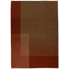 Haze Kilim Rug Wool Handwoven Vineyard in Terracotta Red Medium in Stock