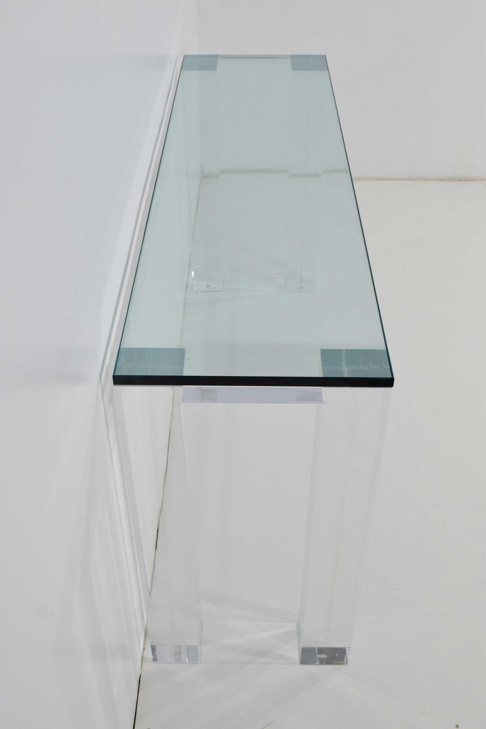 Modern Haziza Lucite Console Table For Sale