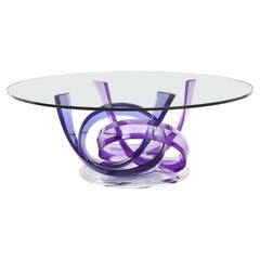 Haziza Violet, Indigo Acrylic Ribbon Coffee Table