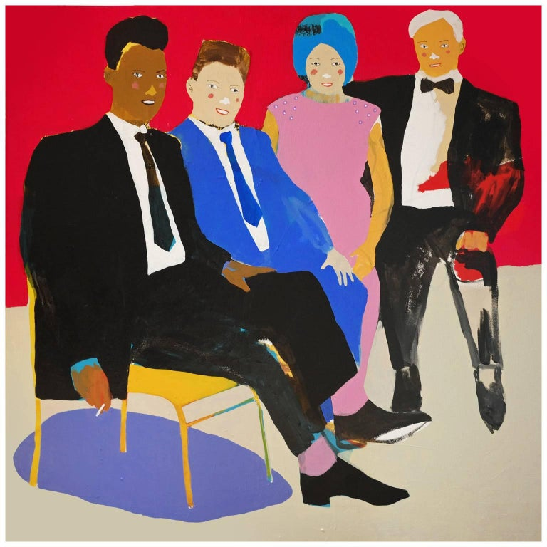 'He Brought His New Wife' Portrait Painting by Alan Fears Pop Art For Sale