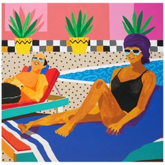 'He Goes Where She Goes' Portrait Painting by Alan Fears Pop Art Couple