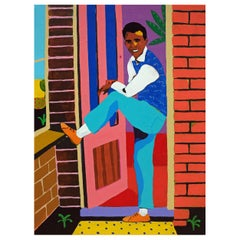 'He Had His Father's Jeans' Portrait Painting by Alan Fears Pop Art