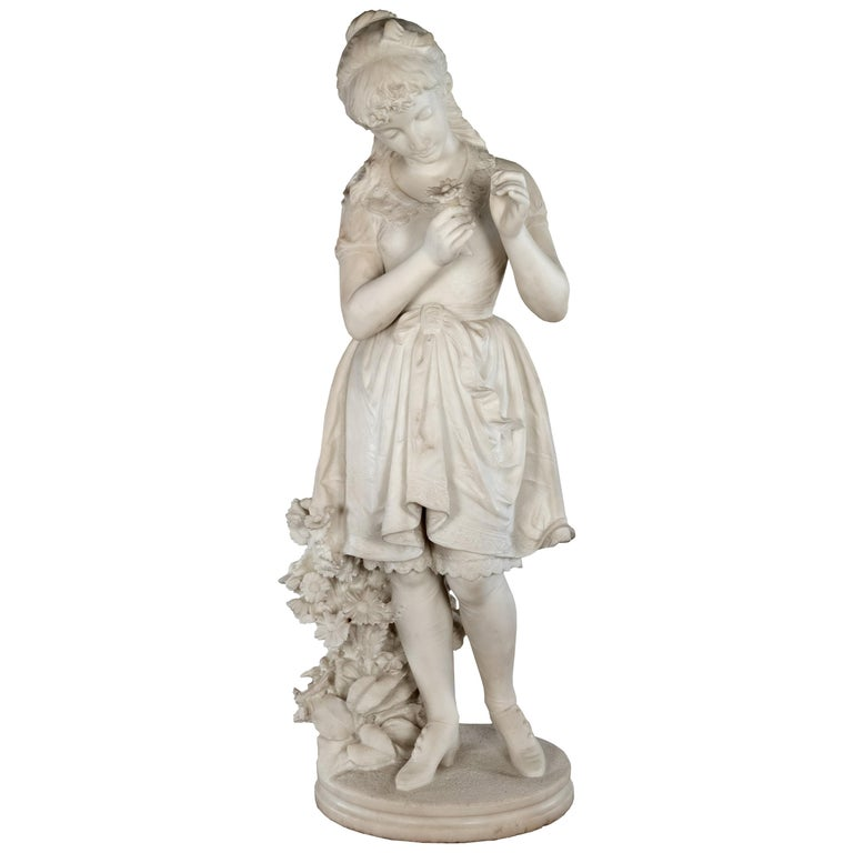He Loves Me, He Loves Me Not by Orazio Andreoni, circa 1885 For Sale