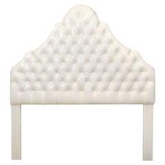 Head Board, White Ultra Leather, Queen Size, Made in America, Contemporary