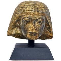 Head Bust Stone Replica of Rameses I Egypt 1292-1290 BC on Ebonized Base