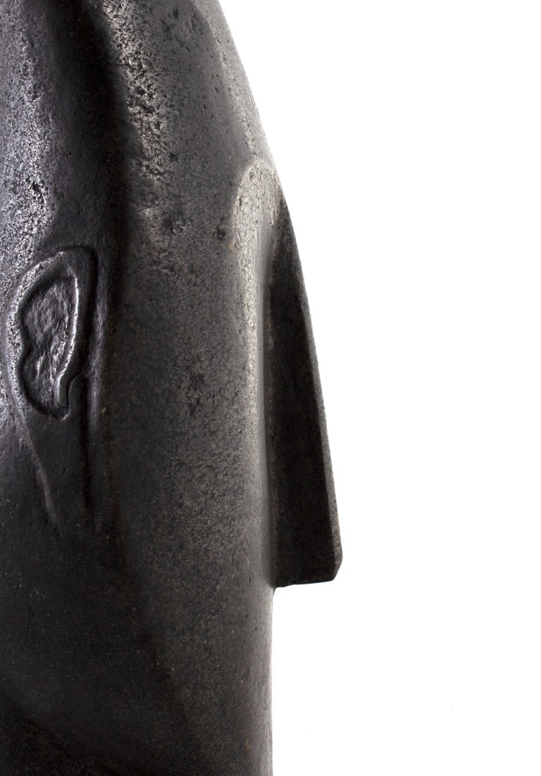 20th Century Head Carved Soapstone Bust, South Asia For Sale