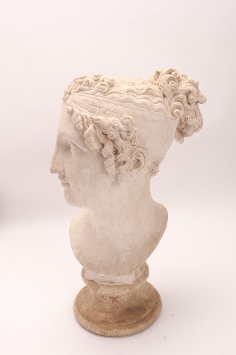 Italian Head of a Women Neoclassic Portrait, Italy, 1890 For Sale