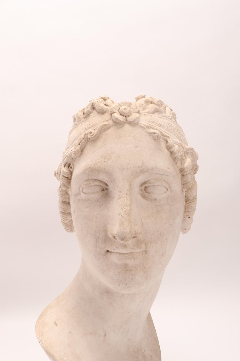 Late 19th Century Head of a Women Neoclassic Portrait, Italy, 1890 For Sale