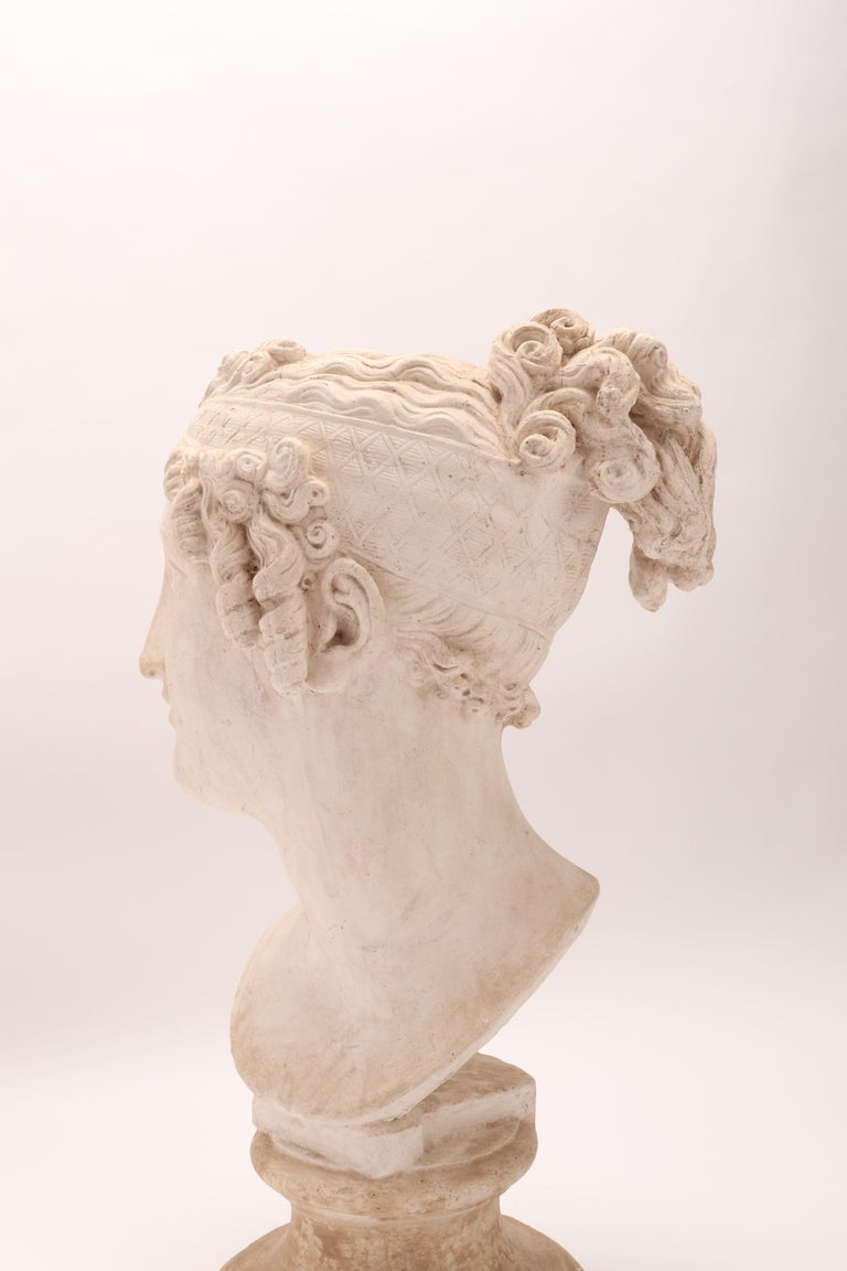 Head of a Women Neoclassic Portrait, Italy, 1890 For Sale 3