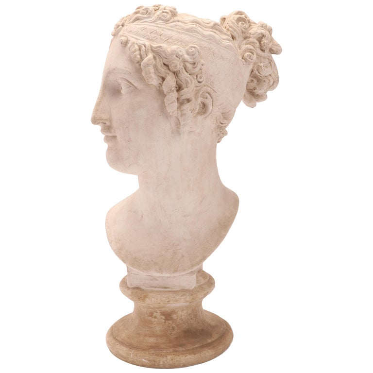 Head of a Women Neoclassic Portrait, Italy, 1890 For Sale