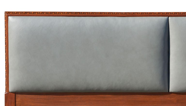 Modern Rare King-Size Headboard by Frank Lloyd Wright For Sale