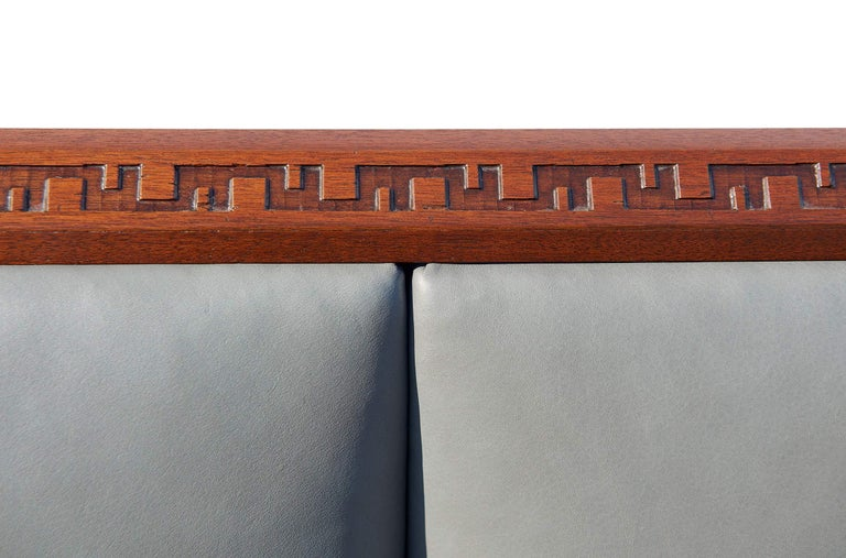 American Rare King-Size Headboard by Frank Lloyd Wright For Sale