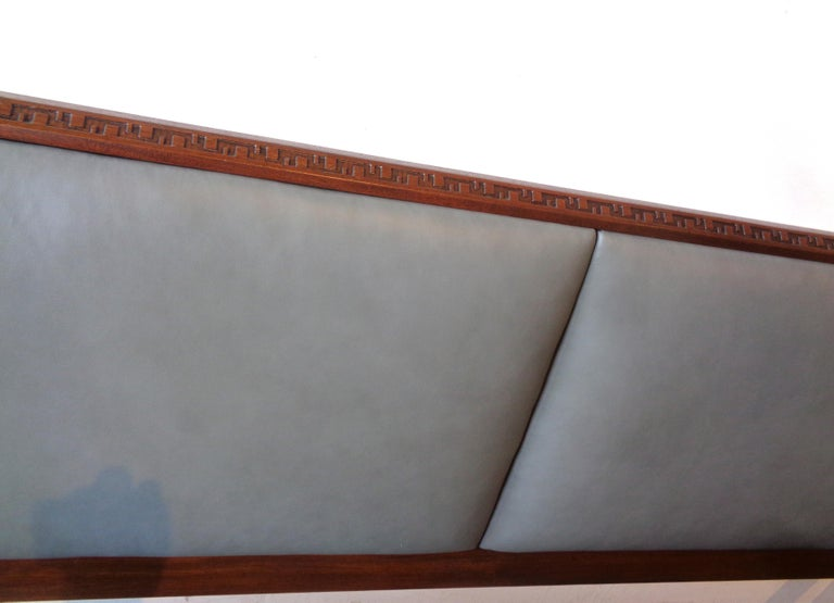 Rare King-Size Headboard by Frank Lloyd Wright In Excellent Condition For Sale In Los Angeles, CA