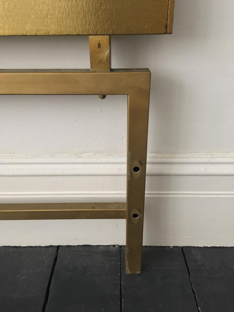 Headboard of Cast and Hammered Brass by Luciano Frigerio, Italy For Sale 5