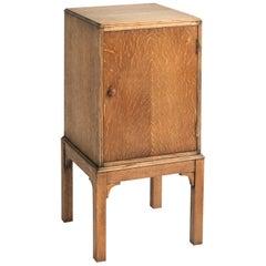 Heals Oak Bedside Cabinet, England, circa 1930