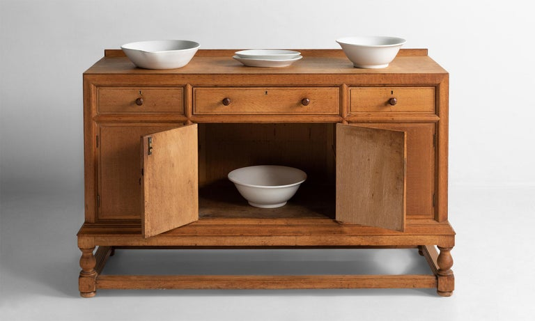 Arts and Crafts Heal's Oak Sideboard, England, circa 1920