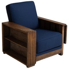 Heals of London Oak Reading Armchair
