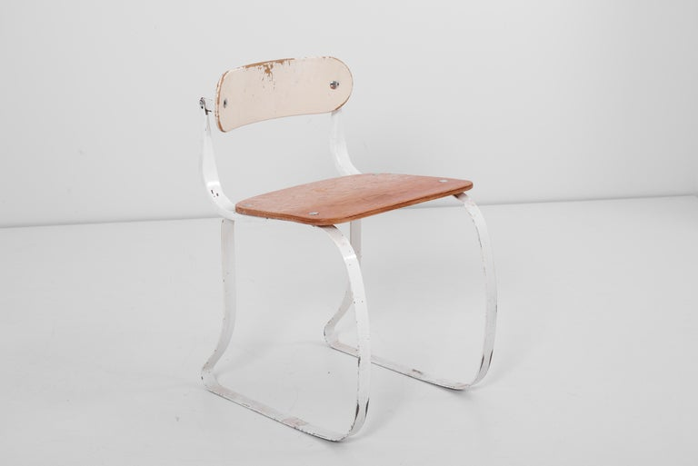 Steel Health Chair by Herman A. Sperlich for Ironrite Inc., US, 1930s